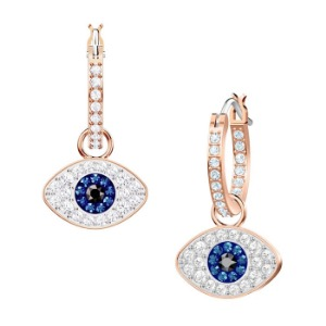 스와로브스키 5425857 귀걸이 Duo Evil Eye Hoop Pierced Earrings